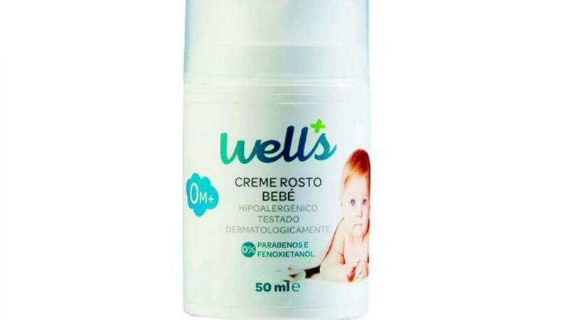 retirado do mercado o Creme de Rosto para Bebé Wells