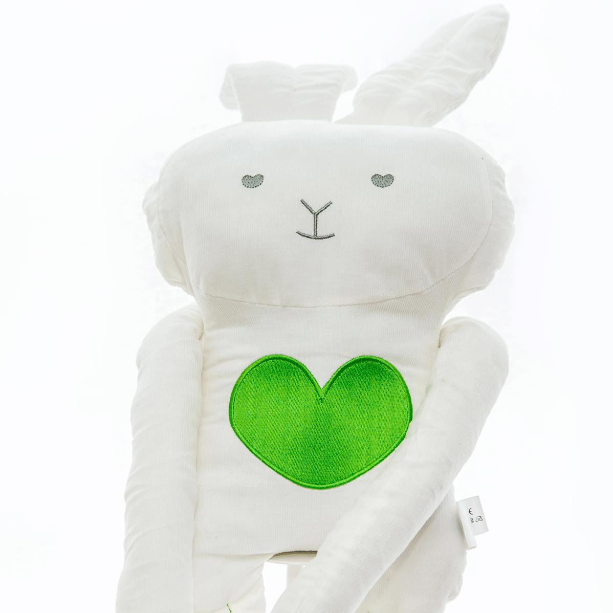Peluche xi-coração verde